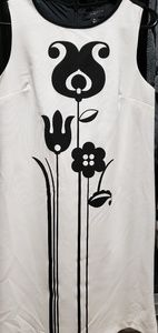 Black and white tulip dress size XL new